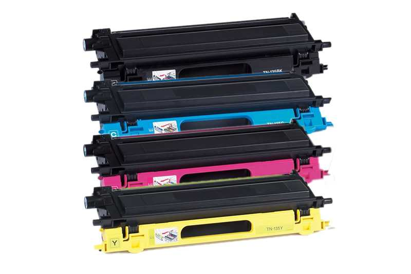 sada tonerů Brother TN-135BK, TN-135C, TN-135M, TN-135Y - 4x kompatibilní tonery pro tiskárnu Brother