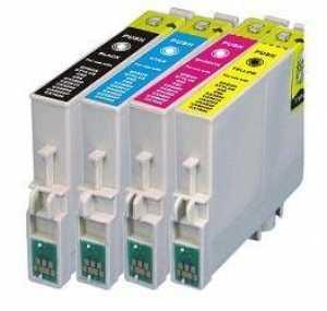 sada Epson T0445 (T0441, T0442, T0443, T0444) kompatibilní inkoustové náplně, cartridge pro tiskárnu Epson Stylus CX4600