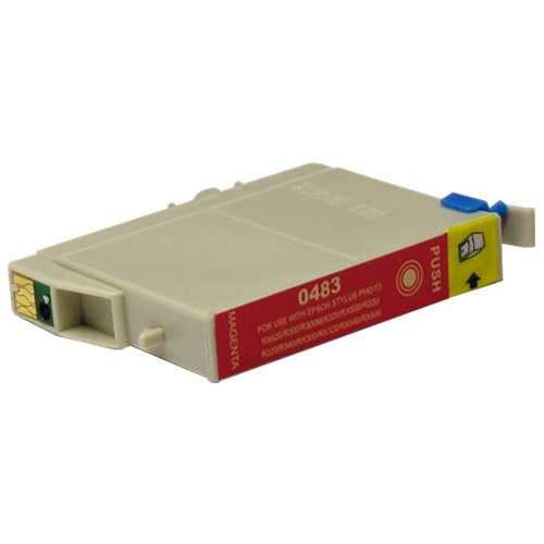 Epson T0483 magenta cartridge, červená purpurová kompatibilní inkoustová náplň pro tiskárnu Epson T0481/T0487
