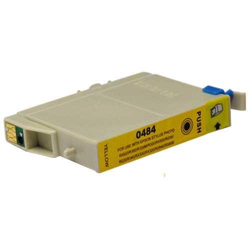 Epson T0484 yellow cartridge, žlutá kompatibilní inkoustová náplň pro tiskárnu Epson T0481/T0487