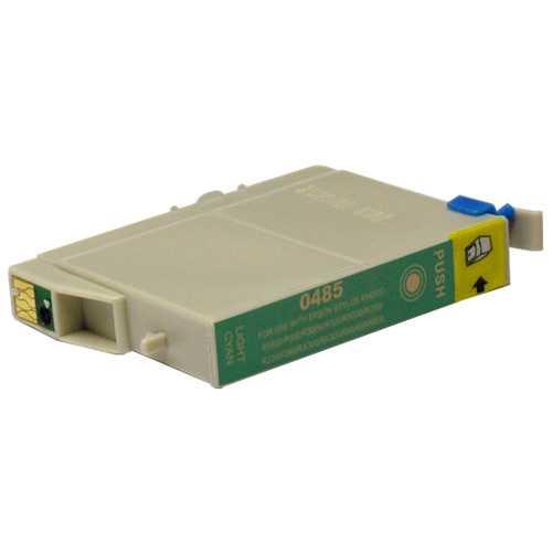 Epson T0485 cyan cartridge, modrá azurová foto kompatibilní inkoustová náplň pro tiskárnu Epson Stylus Photo R340
