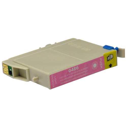 Epson T0486 magenta cartridge, červená purpurová foto kompatibilní inkoustová náplň pro tiskárnu Epson Stylus Photo R340