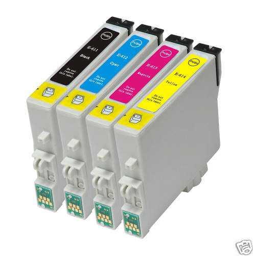 sada Epson T0615 (T0611-T0614) kompatibilní inkoustová náplně pro tiskárnu Epson Stylus DX4850 Plus