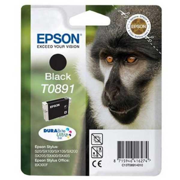 originál Epson T0891 black cartridge černá originální inkoustová náplň pro tiskárnu Epson Stylus SX105