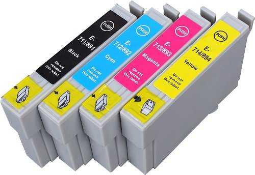 sada Epson T0895 - 4 kusy (T0891, T0892, T0893, T0894) kompatibilní náplně - inkousty pro tiskárnu Epson Stylus SX105