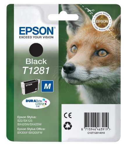 originál Epson T1281 black cartridge černá originální inkoustová náplň pro tiskárnu Epson Stylus SX435W