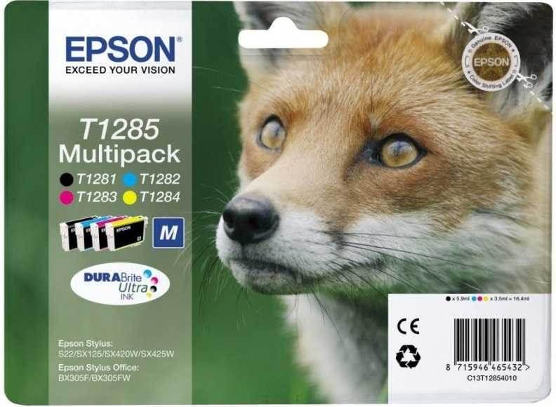 originální sada Epson T1285 cartridge inkoustové náplně pro tiskárnu Epson Stylus SX435W