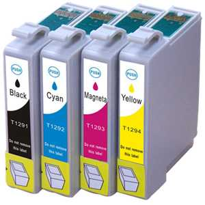 sada Epson T1295 cartridge kompatibilní inkoustové náplně pro tiskárnu Epson WorkForce WF3540DTWF