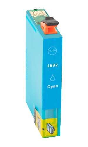 Epson T1632XL cyan modrá azurová cartridge kompatibilní inkoustová náplň pro tiskárnu Epson
