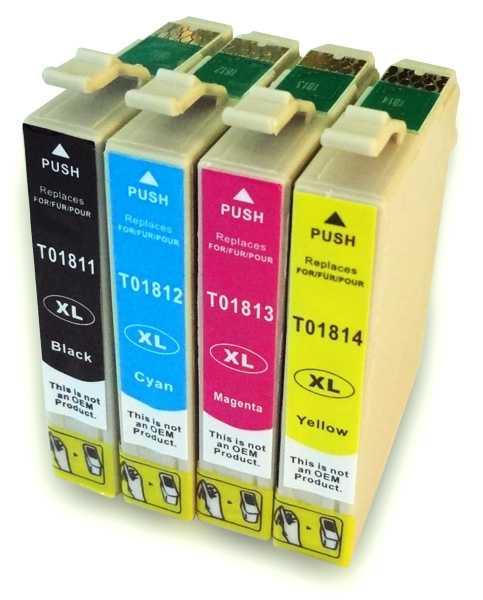 sada Epson 16 - T1626 (T1621, T1622, T1623, T1624) kompatibilní cartridge inkoustové náplně pro tiskárnu Epson
