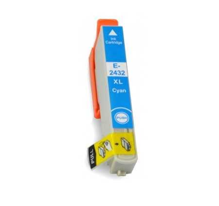 Epson T2432 T24XL cyan cartridge modrá azurová kompatibilní inkoustová náplň pro tiskárnu Epson
