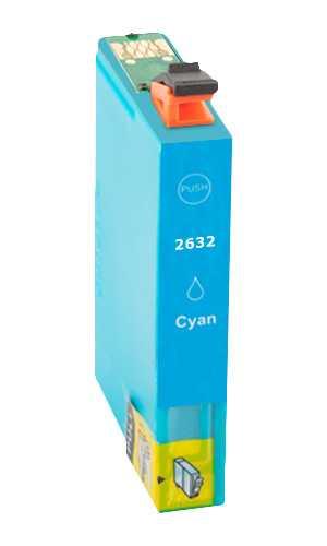 Epson T2632 - 26XL cyan cartridge modrá azurová kompatibilní inkoustová náplň pro tiskárnu Epson