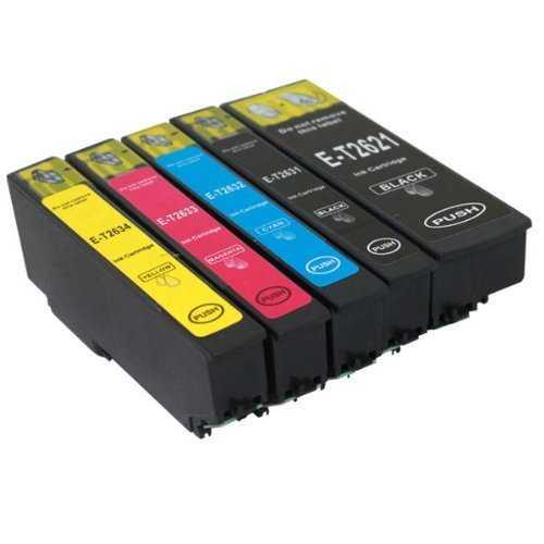 sada Epson T2636 - 26XL (T2621, T2631, T2632, T2633, T2634) cartridge kompatibilní inkoustové náplně pro tiskárnu Epson